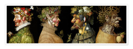 Premium poster  The four seasons - Giuseppe Arcimboldo