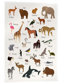 Acrylic print  Favorite animals (German) - Kidz Collection