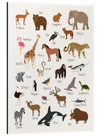 Aluminium print  Favorite animals (German) - Kidz Collection