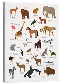 Canvas  Favorite animals (German) - Kidz Collection