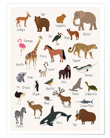 Premium poster  Favorite animals (German) - Kidz Collection