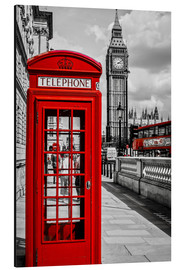 Alu-Dibond  London telephone box and Big Ben - Art Couture
