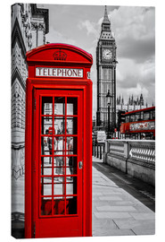 Canvas print  London telephone box and Big Ben - Art Couture