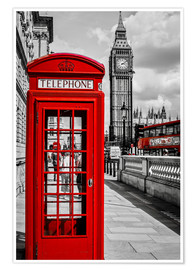 Premium poster  London telephone box and Big Ben - Art Couture