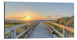 Aluminium print  Footbridge, Baltic Sea - Art Couture