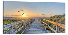 Canvas print  Footbridge, Baltic Sea - Art Couture