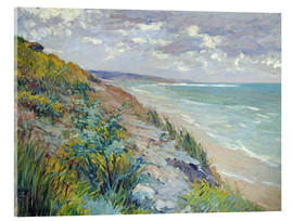 Acrylic print  Cliffs by the sea at Trouville - Gustave Caillebotte