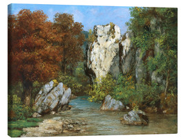 Canvas print  Landscape by the stream - Gustave Courbet