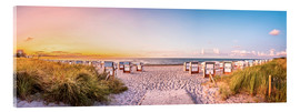 Acrylic print  Sunset, Baltic Sea - Art Couture