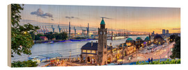 Wood print  St. Pauli landing bridges, Hamburg - Art Couture