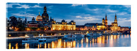 Acrylic print  Dresden at night - Art Couture