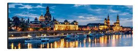 Aluminium print  Dresden at night - Art Couture