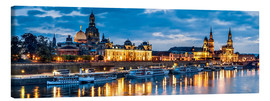 Canvas print  Dresden at night - Art Couture