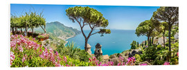 Foam board print  Picturesque coast, Amalfi - Art Couture