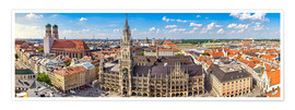 Premium poster  Panorama of Munich - Art Couture