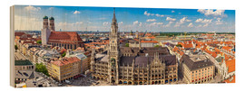 Wood print  Panorama of Munich - Art Couture