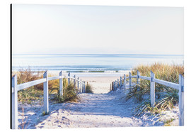 Aluminium print  Dunes way, Sylt - Art Couture
