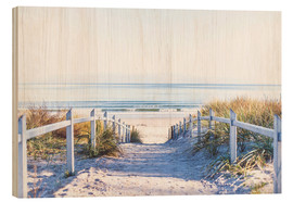 Wood print  Dunes way, Sylt - Art Couture