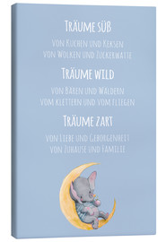 Canvas print  Träume süß, wild und Zart (German) - Kidz Collection