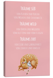 Canvas print  Sweet Dreams / Träume süß (German) - Kidz Collection