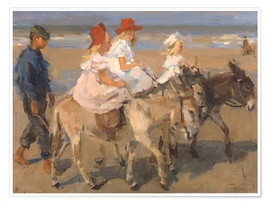 Premium poster  Donkey rides on the beach - Isaac Israels