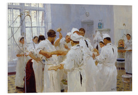 Foam board print  The surgeon Evgeny Pavlov in the operating room - Ilya Efimovich Repin