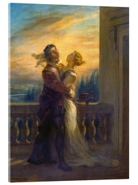 Acrylic glass  Romeo and Juliet - Eugene Delacroix
