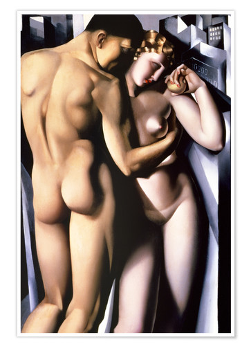 Premium poster Adam and Eve