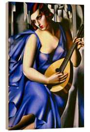 Wood print  The musician - Tamara de Lempicka