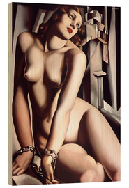 Wood print  The slave - Tamara de Lempicka