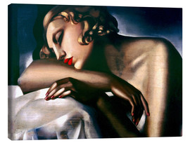 Canvas print  The sleeping girl - Tamara de Lempicka