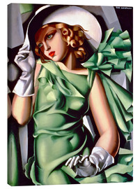 Canvas  Young lady with gloves - Tamara de Lempicka