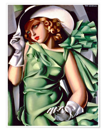 Poster  Young lady with gloves - Tamara de Lempicka