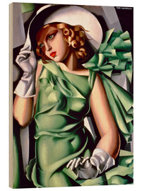 Wood print  Young lady with gloves - Tamara de Lempicka
