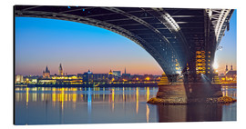 Aluminium print  Mainz Germany with rhine bridge - FineArt Panorama